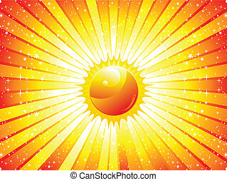 abstract sunbeam background vector illustration