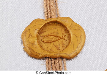 seal - A golden seal as fish with a band on silver...
