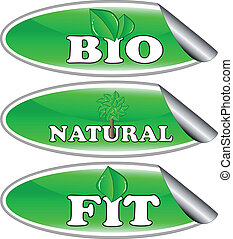 Vector - bio, natural and fit sticker