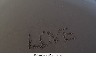 Undraw Love in Sand - The word love is UNwritten in the sand