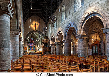 Interior of the cathedral in Stavanger - Stavanger Cathedral...
