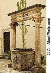 antiguo, agua, bien, Pitigliano, Toscana, Italia