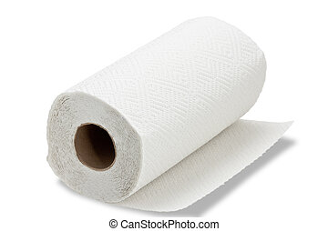 Kitchen paper towel - Paper towel on white background