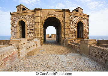 Fortress in Essaouira - View of Essaouira fortress in the...