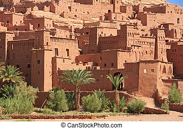 Casbah Ait Benhaddou Morocco - The fortified town of Ait ben...