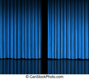 Behind The Blue Curtain - Behind The blue curtain sneak a...