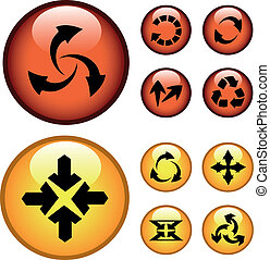 Vector buttons with arrows