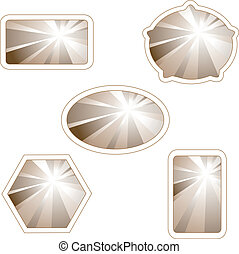 Vector labels with light rays