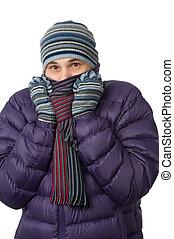 congelación, hombre