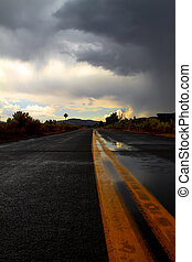 Bad Road Weather - Storming on the roads of Nevada