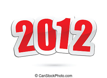 2012 new year greetings in vector - vector illustrations of...