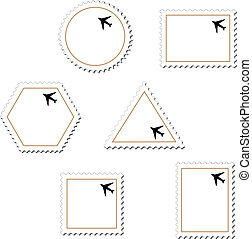 Vector stamps with airplane