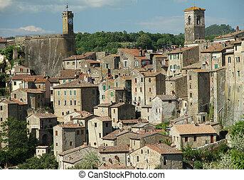 lovely italian town, Sorano, Maremma,Tuscany