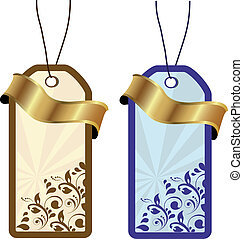 Vector floral tags
