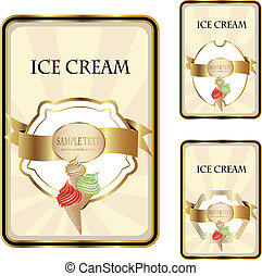 Vector ice cream labels
