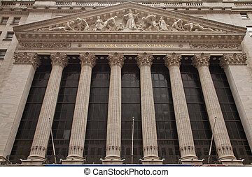 New York Stock Exchange, front view