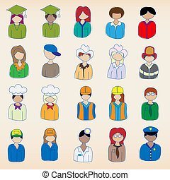 Hand Drawn Occupation Icons