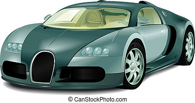 Sport car - The realistic image of the car Bugatti Veyron