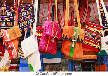 Colorful bag in a market in the street - Arabic Market in...