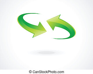 abstract green refresh icon vector