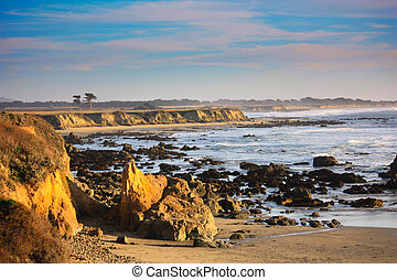 California coast - view of bay near Pescadero California...