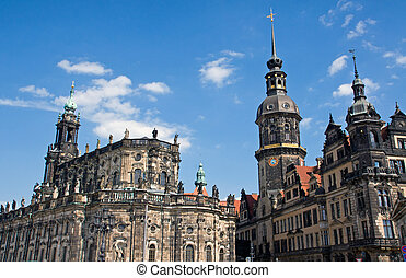 Hofkirche and Residenzschloss in Dr - The famous Hofkirche...