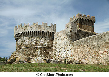 stronghold  - fortress of Populonia, Tuscany, Italy