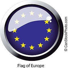 Vector flag of Europe