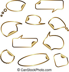 Vector gold stickers