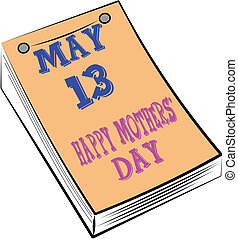 mothers day calendar - calendar depicting special date for...