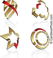 Vector 3D symbols