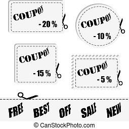Vector shopping coupon