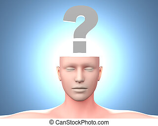 Question - A generic questioning person Question mark in the...