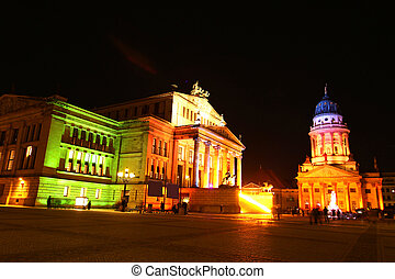 View on the Gendarmenmarkt in Germany. The Konzerthaus...