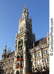 The Rathaus of Munich - Historic building in the center of...
