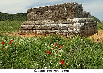 etruscan tomb, Archaeological Park of Baratti and Populonia,...