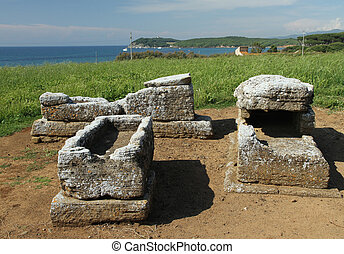 etruscan cemetery - etruscan tombs, Archaeological Park of...