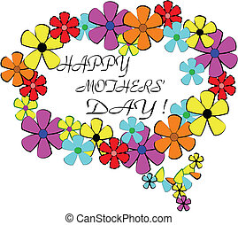 mothers day ring of flowers background