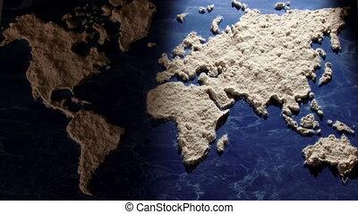 mundo, harina, luz, Movimiento