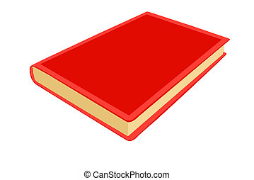 red note pad on white background