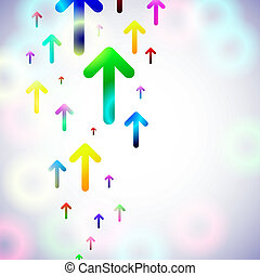 abstract arrow background. Vector illustration