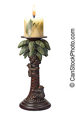 Palm Tree Candlestick Holder isolated