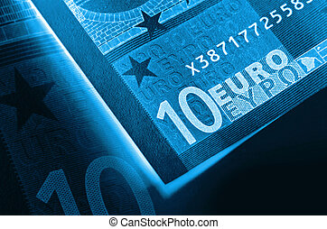 x-ray euro money abstract background - x-ray abstract euro...