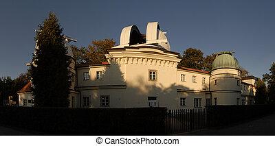 Petrinska Hvezdarna - Panorama of building of observatory in...