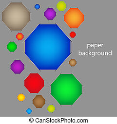 Creative paper background. Vector illustration for your design. Best choice