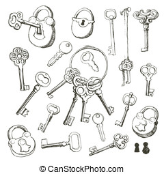 Key set - Vector illustration represents various kinds of...