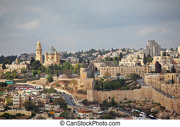 The capital of Israel - Jerusalem. Beautiful autumn day