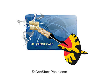 Abstract destorying your credit card