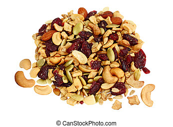 Trail Mix of dried cranberries, sunflower nuts, cashews,...