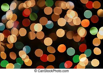 Colorful Light Bokeh - Defocused colorful light bokeh...
